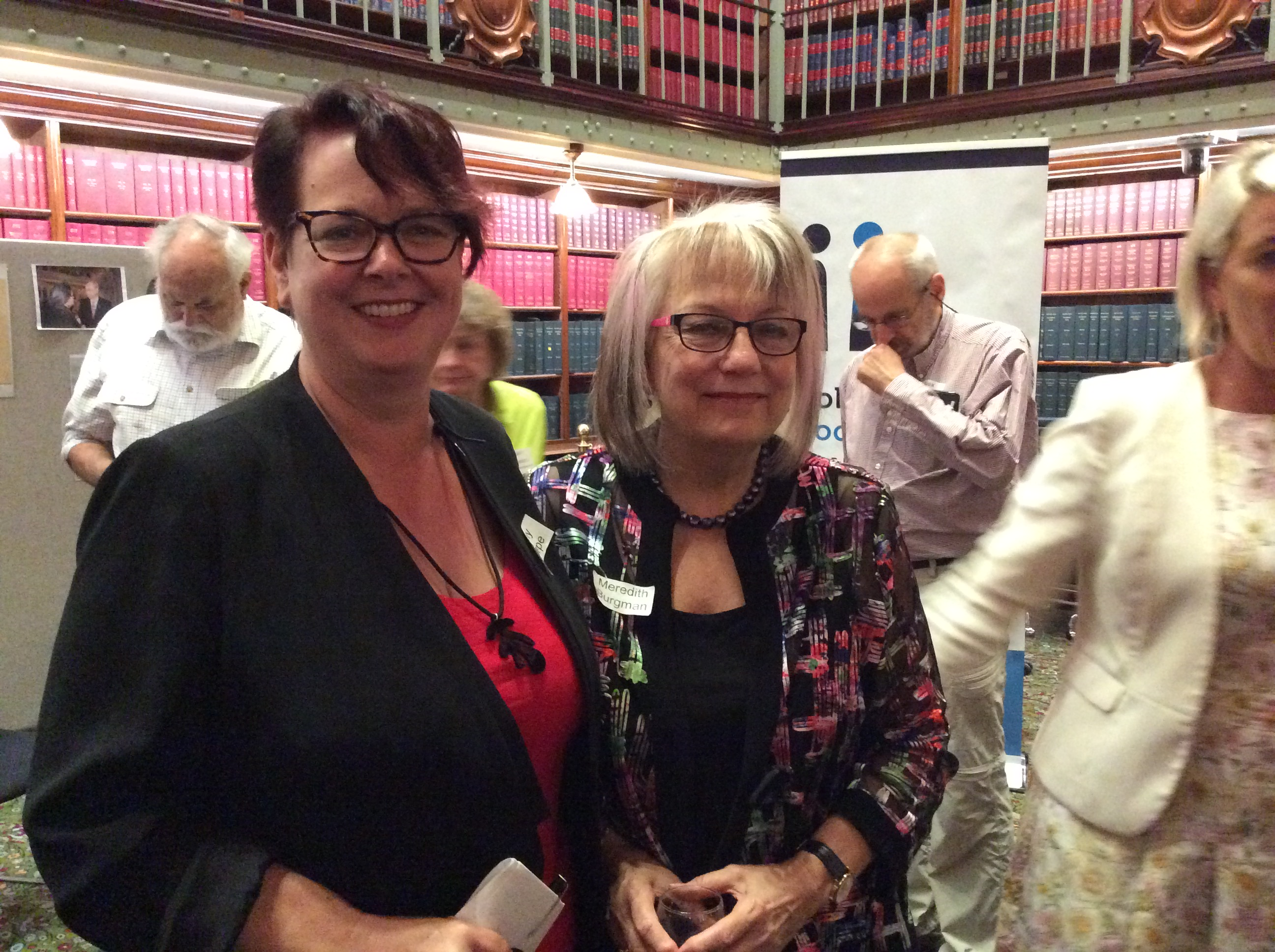 Hon Penny Sharpe, Meredith Burgman - POSC launch NSW Parliament April 2018