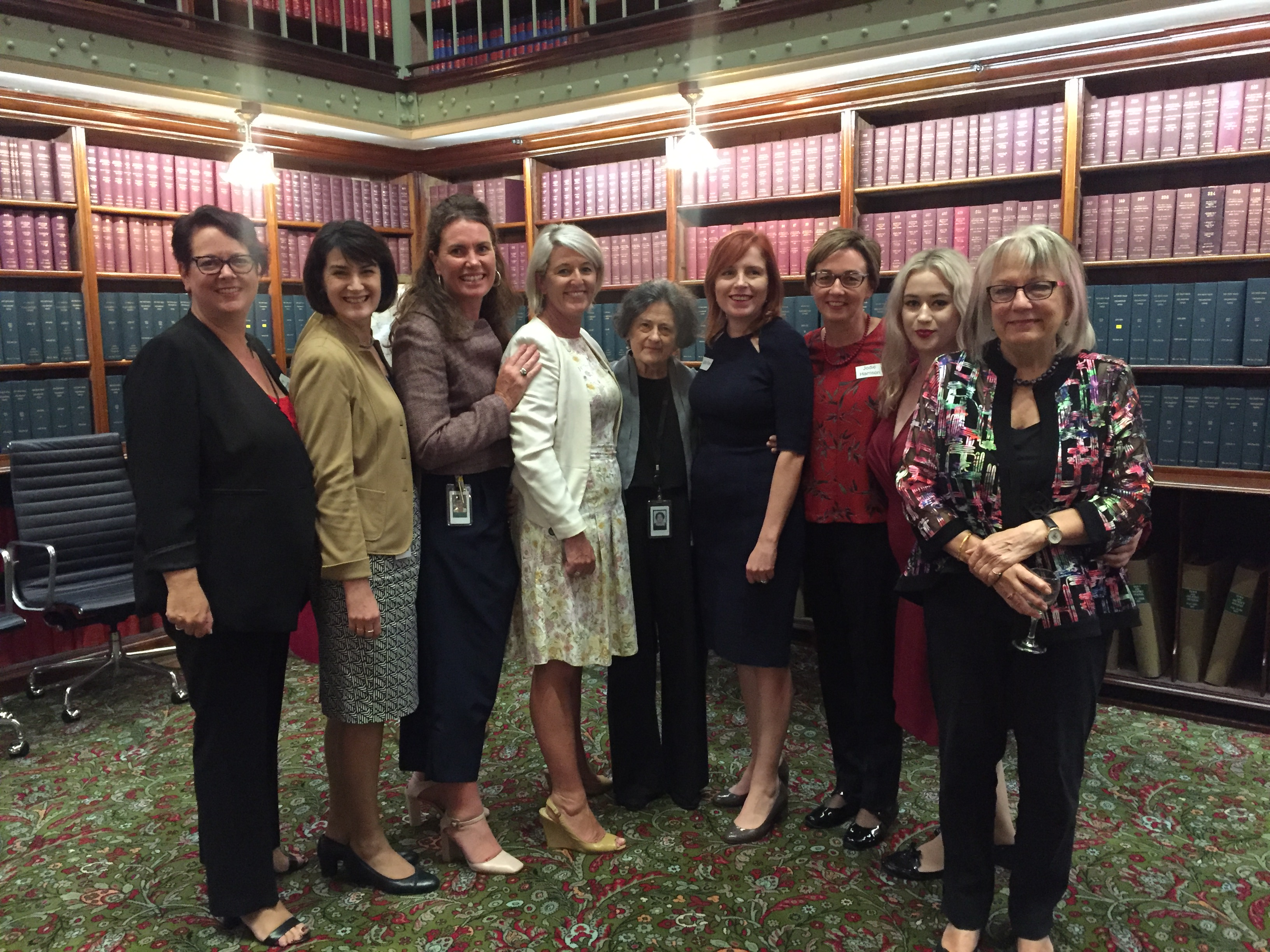 Ann Symonds and guests - POSC launch NSW Parliament April 2018